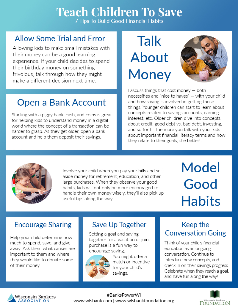 Teach Children To Save Infographic