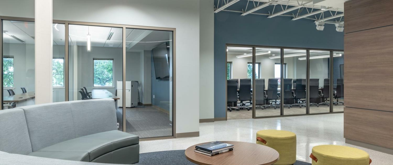 Lounge area at WBA Engagement Center